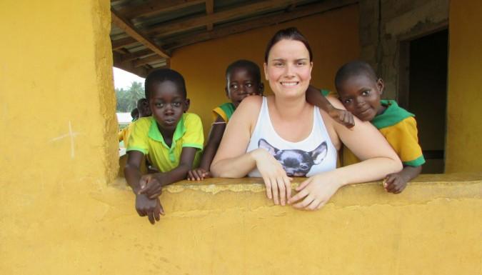 Ilse is in Ghana